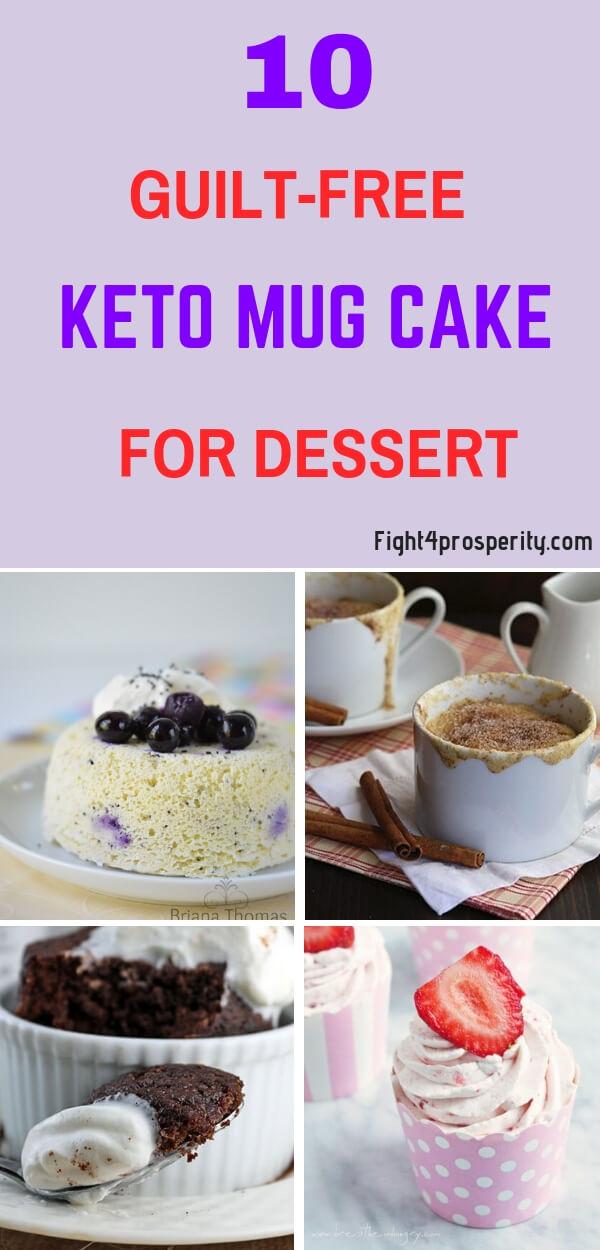 keto mug cake/ keto dessert