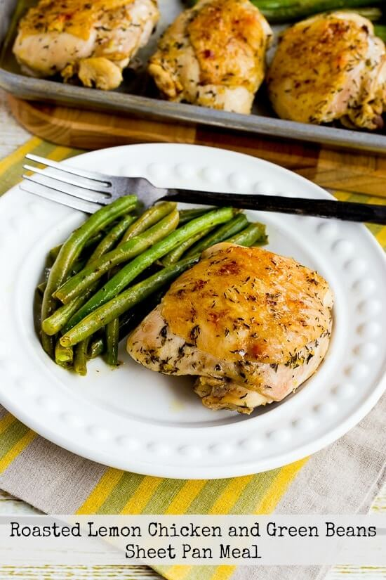 Low carb sheet pan meal or low carb on pan meal