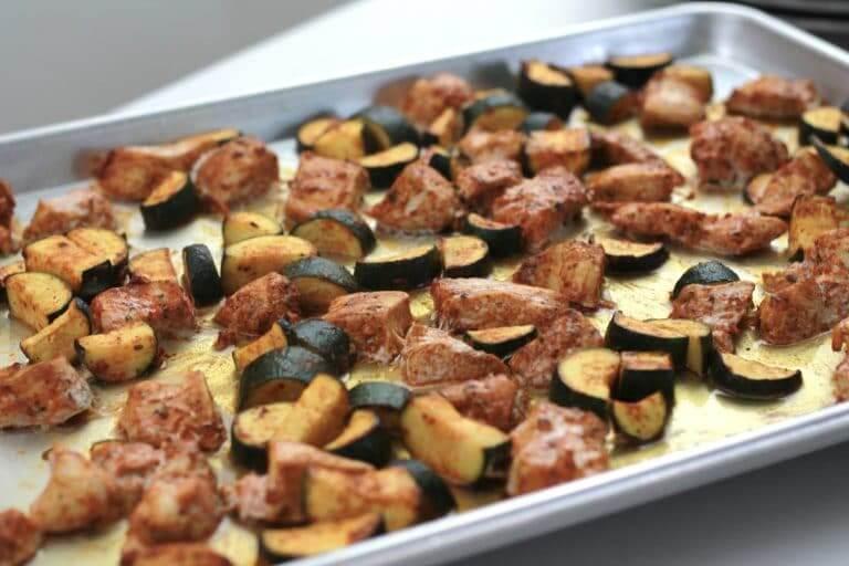 Low carb sheet pan meal or low carb one pan meal