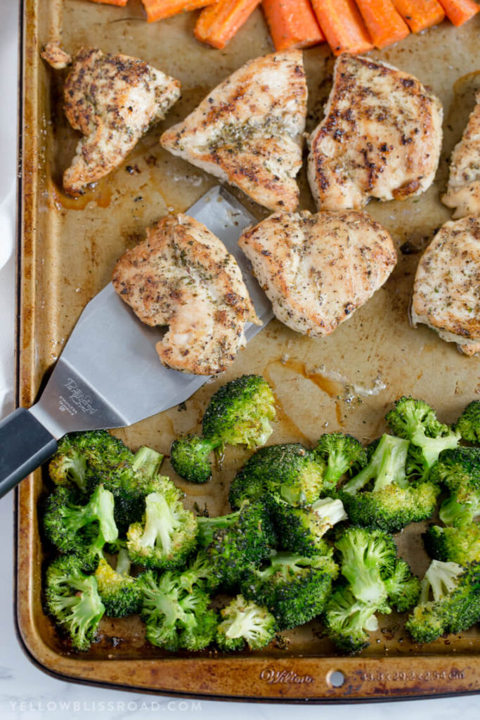 Low carb sheet pan meal or low carb one pan meal