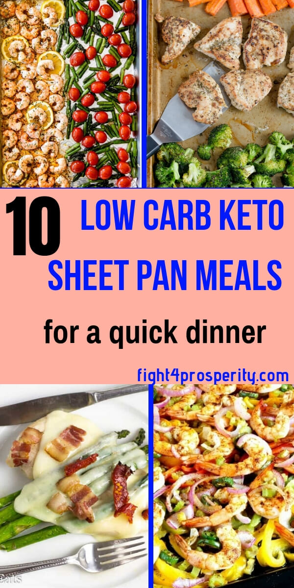 keto dinner/low carb sheet pan meals