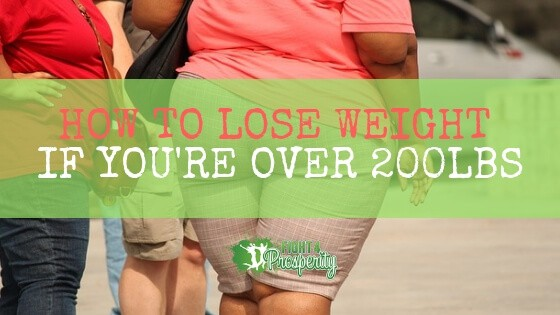 how to lose weight if you're over 200lbs