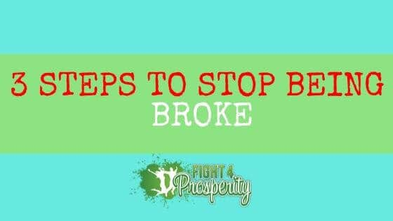 how to stop being broke